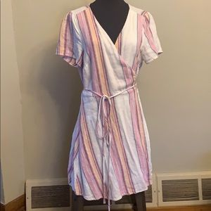 Striped Wrap Dress Forever 21 Size 0X